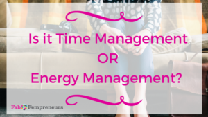 manage your energy to be more productive