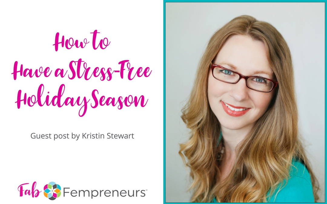 manage stress during the holidays
