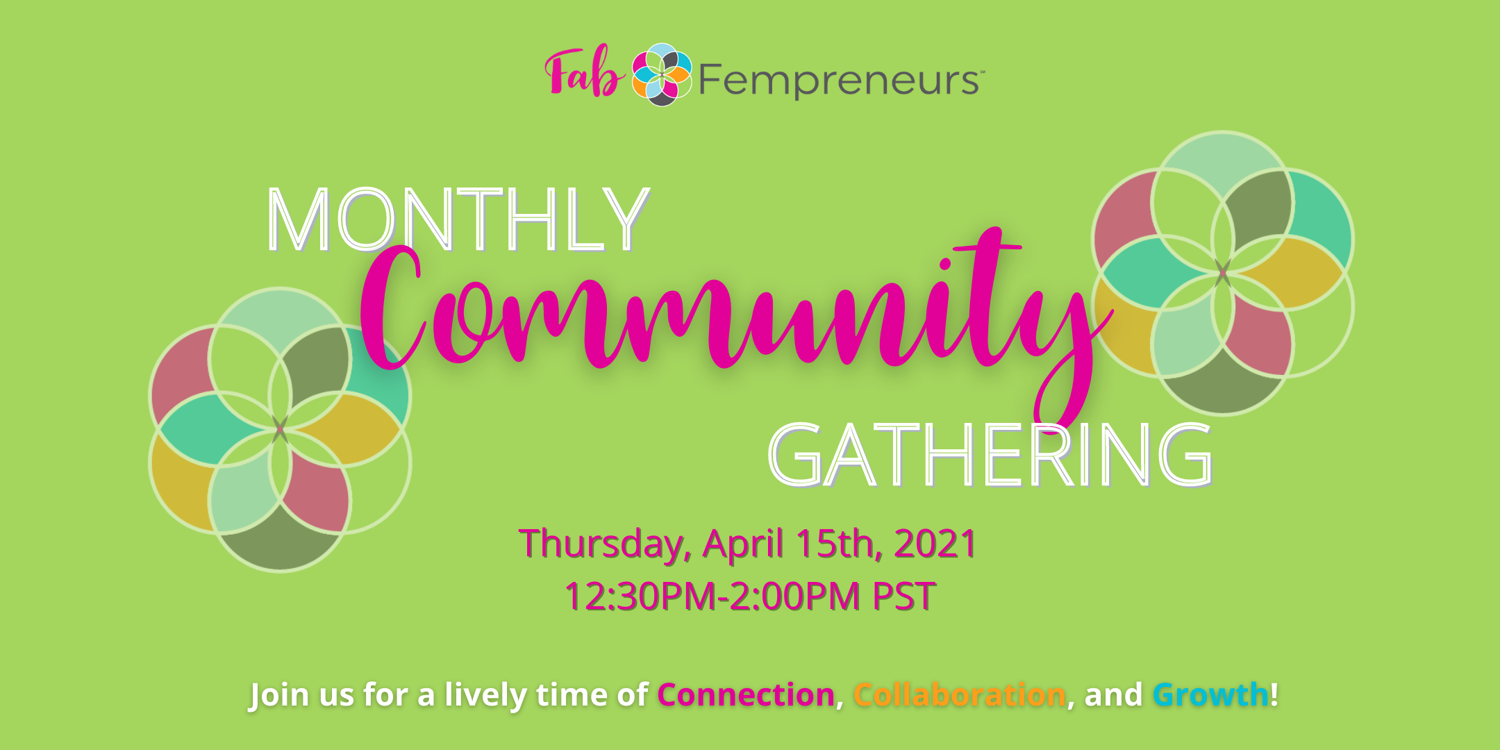 free virtual networking event for women